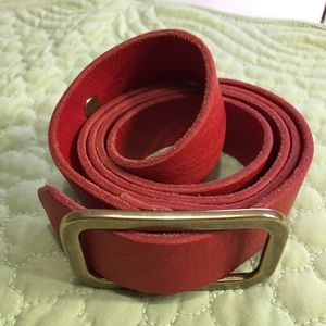 J. Crew Red Leather Belt